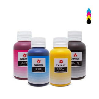 Kit Tinta Sublimática Sublidesk CMYK 4x 100ml - Gênesis
