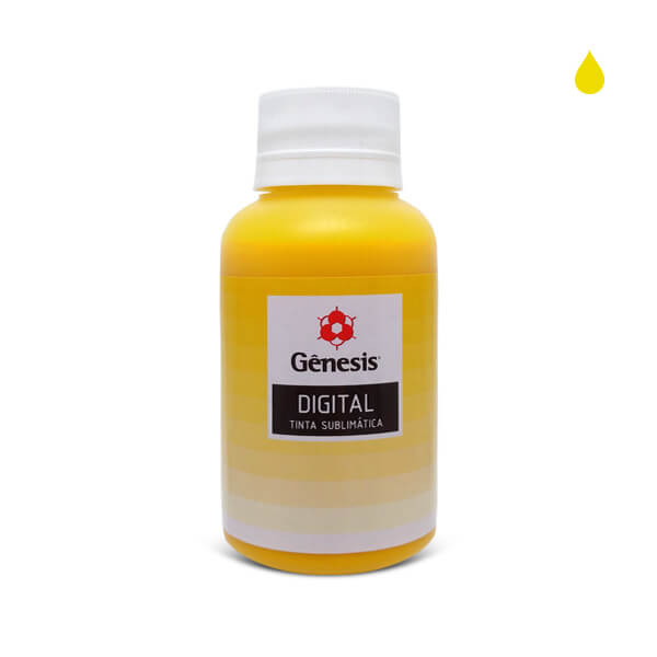 Tinta Sublimática Sublitop Intenso Amarelo Fluorescente 100ml – Gênesis