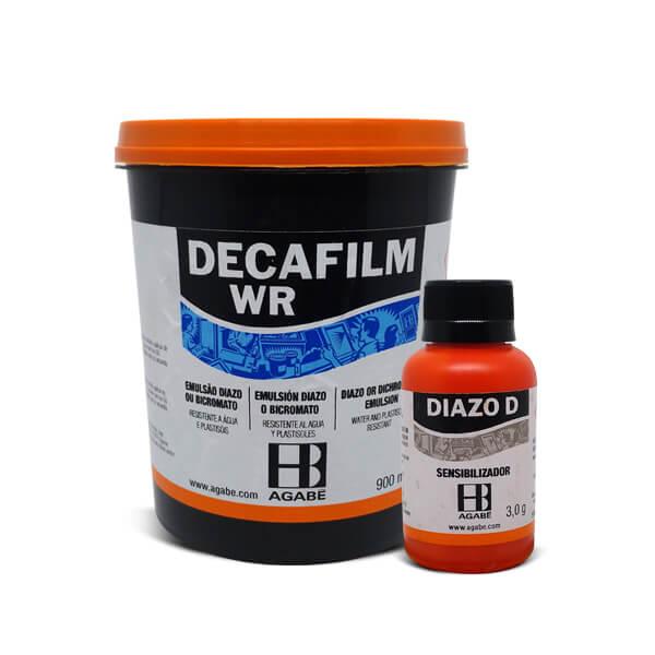 Kit Emulsão Decafilm WR 900ml c/ Sensibilizador Diazo D 3g - Agabê